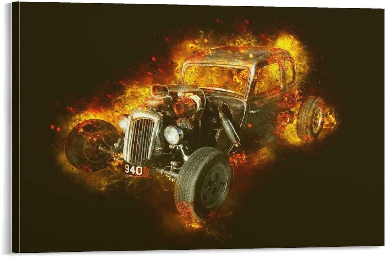 jinlai Hot Rod Car ArtCanvas Tulsa Mall Direct sale of manufacturer Art Wall and Pri Picture Poster