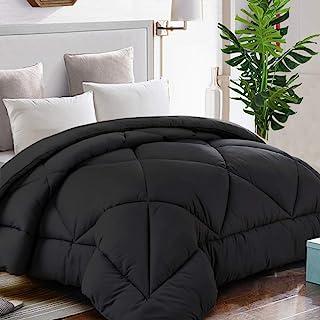 TEKAMON All Season Oversized Queen Comforter Winter Warm Summer Soft Quilted Down Alternative Duvet Insert Corner Tabs, Ma...