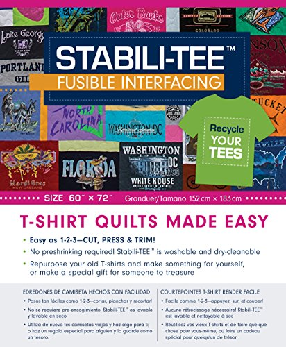 """Stabili-TEE Fusible Interfacing Pack, 60"""" x 72"""": T-Shirt Quilts Made Easy"""
