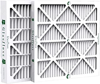 Glasfloss ZL 20x20x2 MERV 10 AC & Furnace Filters. 12 Pack. Actual Size: 19-1/2 x 19-1/2 x 1-3/4
