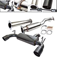 Fit 2008-2014 Mitsubishi Lancer Evolution X (10) 3 Inch Stainless Steel Catback Exhaust System 4 Inch Gun Metal Muffler Tip
