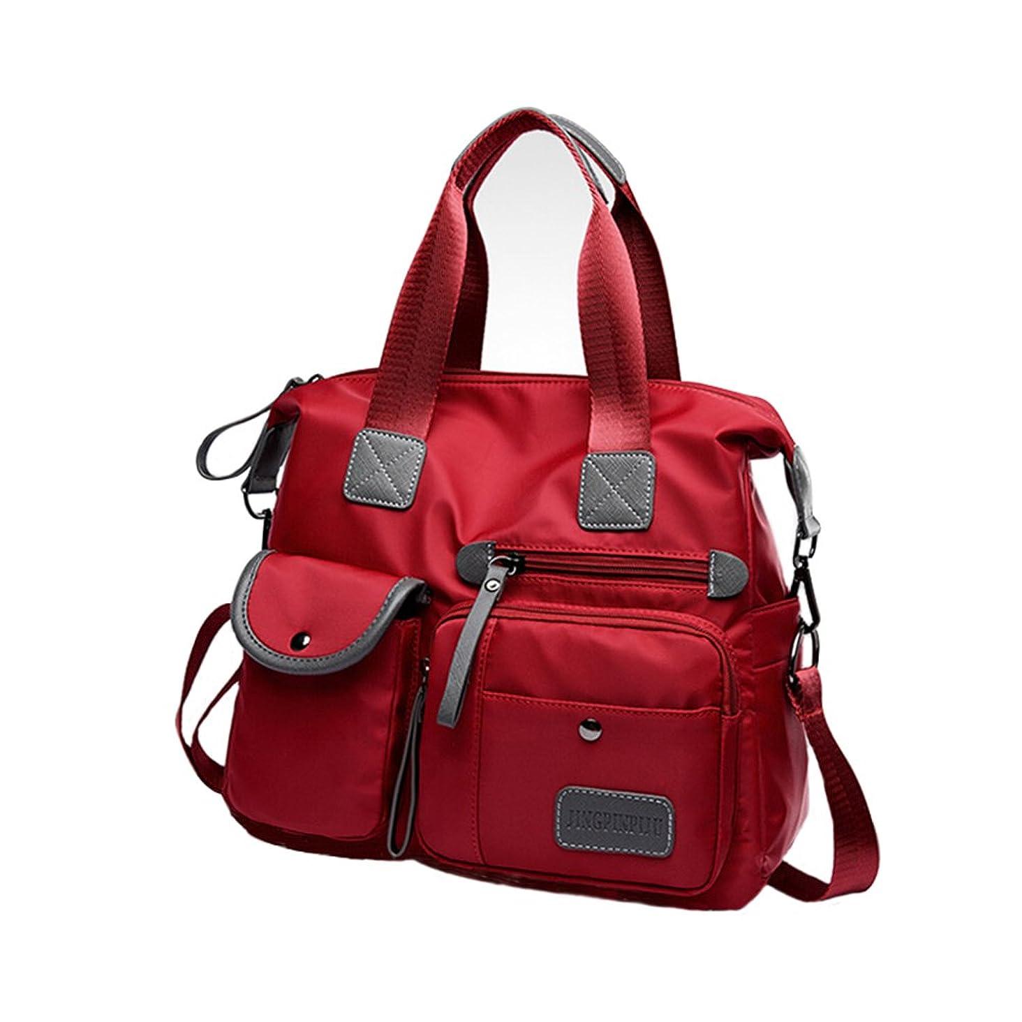 Multifunctional Oxford Cloth Ladies Handbag High-Capacity Nylon One-Shoulder Backpack