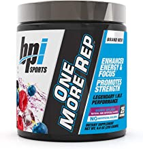 BPI Sports One More Rep Pre-Workout Powder - Increase Energy and Stamina - Intense Strength - Recover Faster - Beetroot - ...