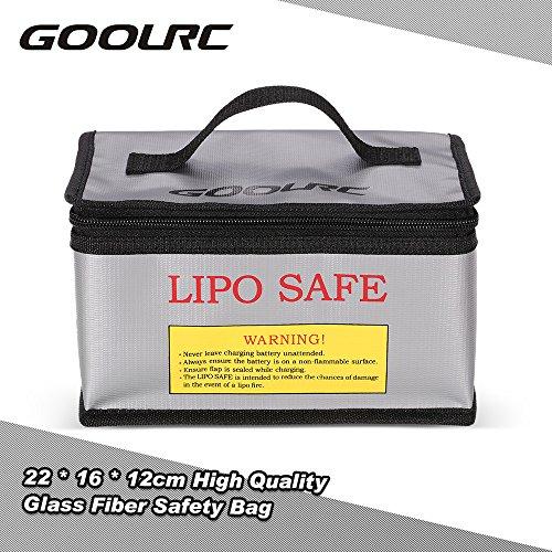GoolRC 22 * 16 * 12cm Qualitäts Glasfaser RC LiPo Batterie Sicherheits Beutel Sicherheits Schutz Gebühr Sack