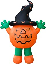 Holidayana Giant 10 Ft Airblown Inflatable Halloween Pumpkin Man - Inflatable Halloween Decoration with Super Bright Internal Lights, Built-in Fan and Anchor Ropes