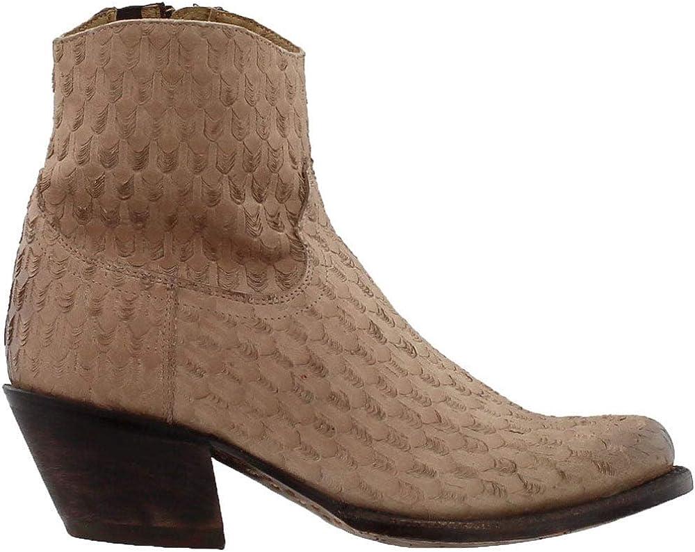 Tony Lama Superlatite Superlatite Womens Linen Arrow Round Ankl Cowboy Western Toe Boots