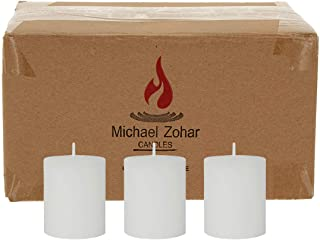 Michael Zohar Candles Votive Candle, Unscented, 100 Percent Paraffin Wax Votive Candle for Glass Refill, Candles be Used f...