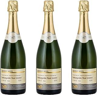 Weingut Mees SPÄTBURGUNDER ROSÈ SEKT TROCKEN Deutscher Sekt b.A. Nahe Prämiert Klassische Flaschengärung Deutschland Sektpaket 3 x 750 ml 100% Spätburgunder