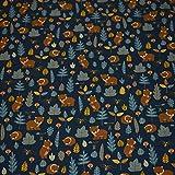 Jersey Bären, Fledermäuse dunkelblau (50cm x 155cm)