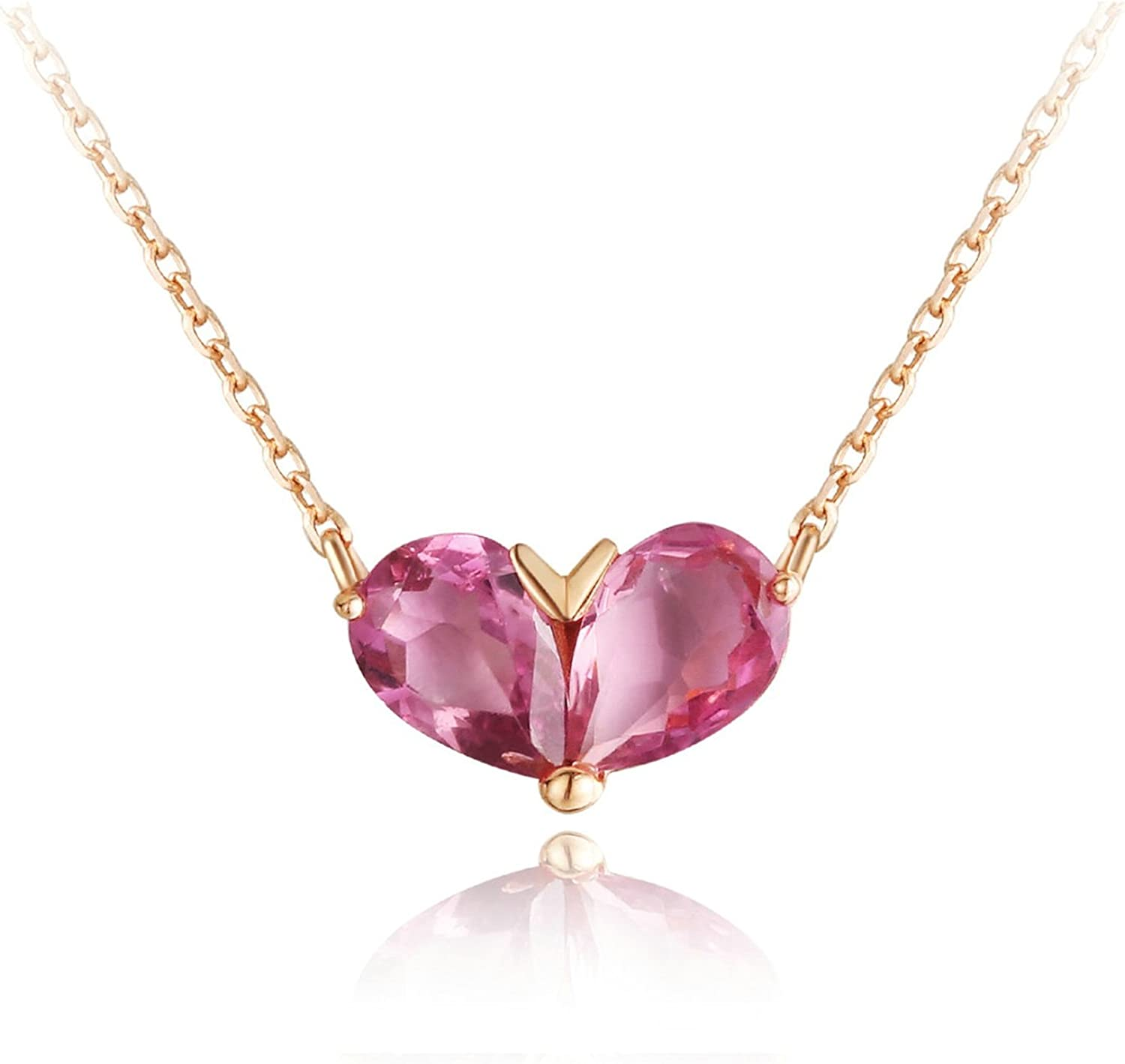 Daesar 18K Gold Necklace for Women Max 48% OFF Shaped Product Drop Water Heart Natur