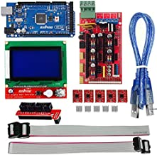 OSOYOO 3D Printer Kit with RAMPS 1.4 Controller + Mega 2560 board + 5pcs A4988 Stepper Motor Driver with Heatsink + LCD 12864 Graphic Smart Display Controller with Adapter For Arduino RepRap
