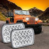 H6054 LED Headlights GOTTOW 2PCS Rectangle...