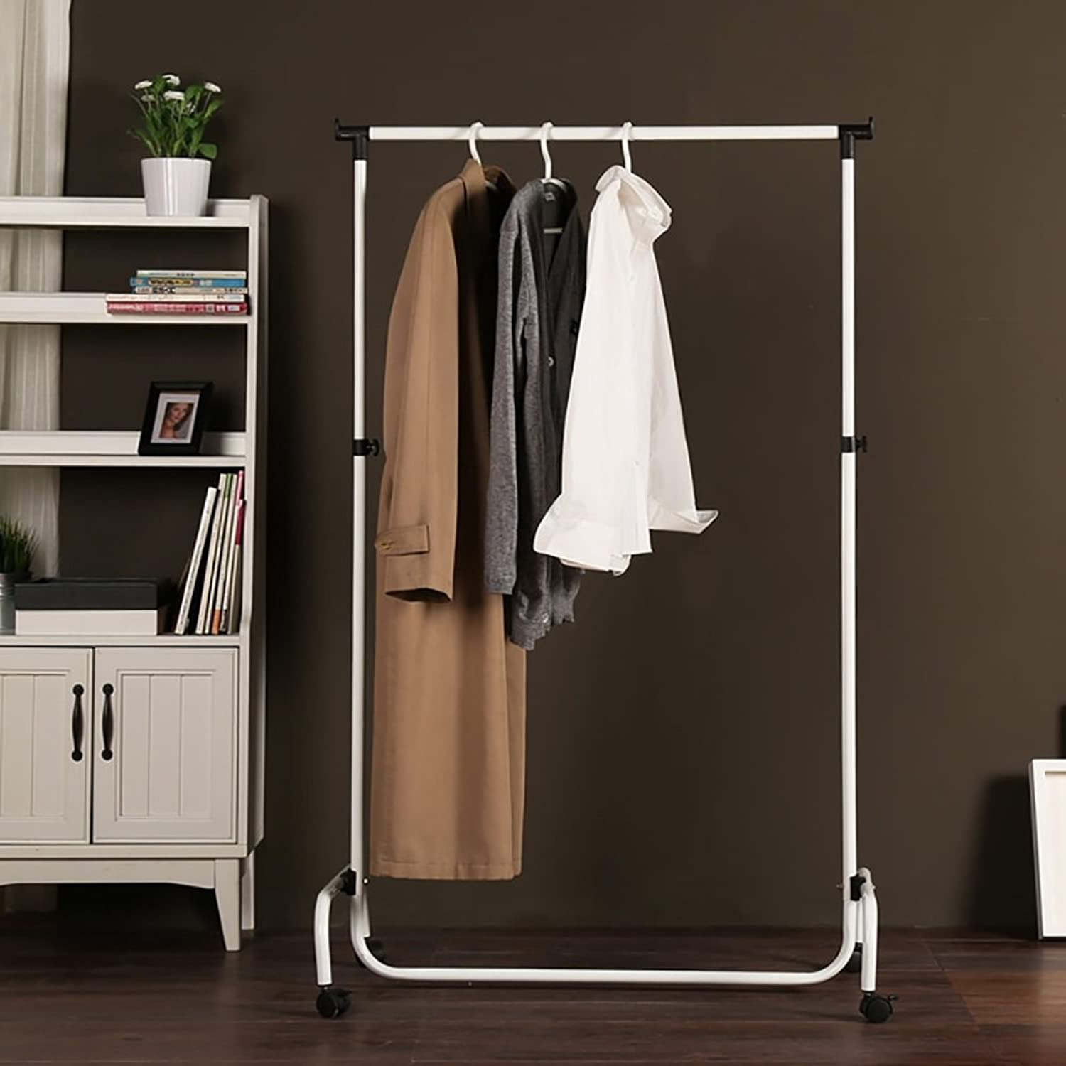 Clothes Tree Simple Hatstand Coatrack Removable Hat Rack With Wheels ( color   White )