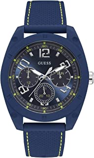 GUESS Mens Quartz Watch, Analog Display and Silicone Strap - W1256G3