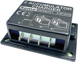 Kemo M102 A andra batteriladdare, batteri-övergång 6 - 24 V/DC. Ladda 2 batterier separat från varandra till bilgenerator,...