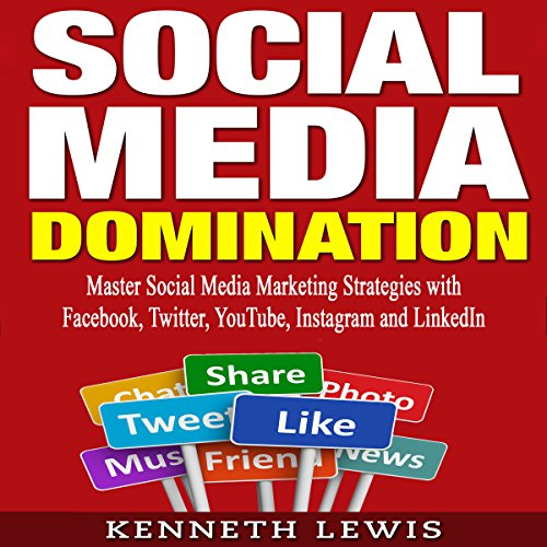 Social Media Domination audiobook cover art