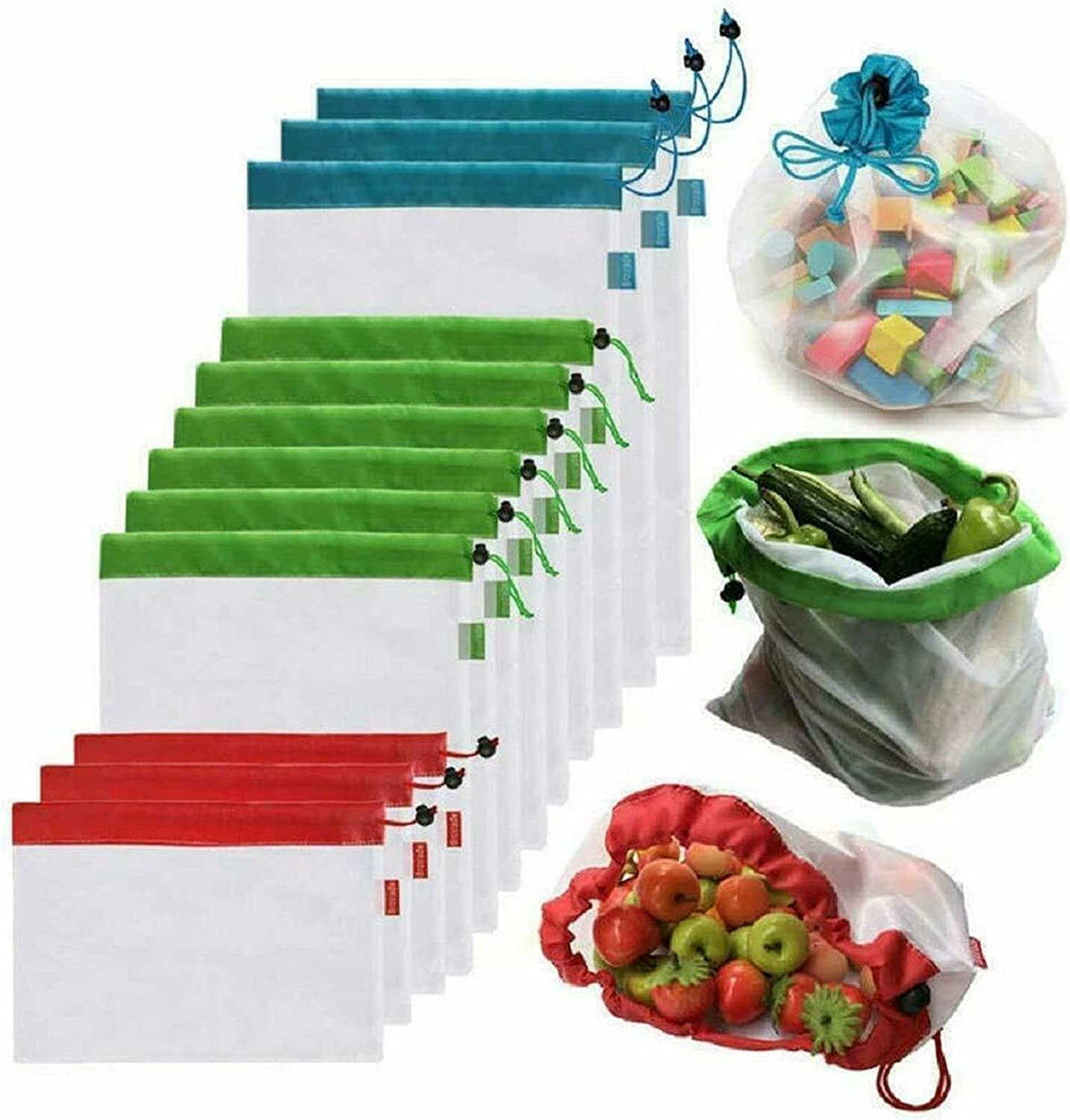 Mesh Bags Premium Net Eco-Friendly and Our shop Clearance SALE! Limited time! OFFers the best service Fruit Drawstring Veg