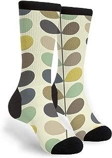 Orla Kiely Wallpaper Men's Unisex Novelty Crew Socks Funny Crazy Dress Socks