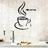 Pegatinas de pared con texto en inglés 'I Love Coffee Home...