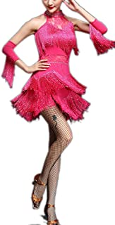 Whitewed Fringe Great Gatsby Tango Dance Theme Woman Dress Outfits for Adults