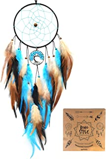 Littlear Dream Catcher Handmade Turquoise Tree of Life Dream Catchers Feathers Wall Hanging Home Decor Dia 6