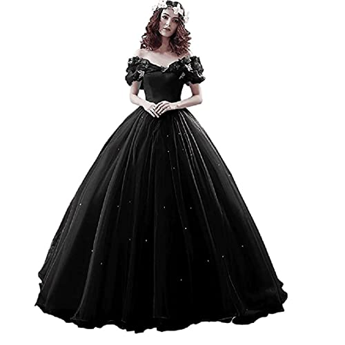 9a8ff60324e Chupeng Women s Princess Costume Butterfly Off Shoulder Cinderella Prom  Gown Wedding Dresses Evening Gown Quinceanera Dress