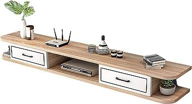 TV Cabinet, TV Lowboard, Floating Shelves, Wall Mounted Media Console, 39.3/47.2/55.1/59 inch TV Set-Top Box Shelves, Set-Top