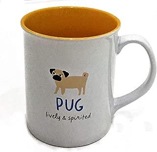 Lovable PUG Ceramic Coffee Mug by Fringe Studio | Inscribed: lively & spirited