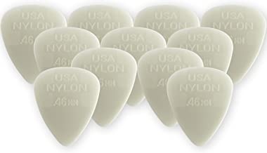Dunlop 44P.46 Nylon Standard, White, .46mm, 12/Player's Pack
