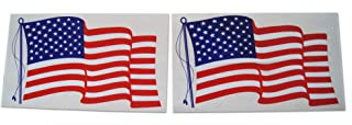 Novel Merk Large American Flag Patriotic Military Static Cling Window Set Includes Big Rectangle Design in Classic Red, White, Blue US (2 Pieces)