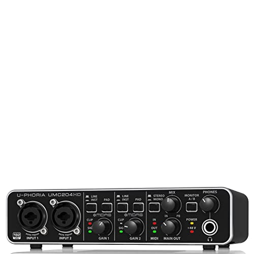"Behringer UMC204HD U-Phoria USB Audio und""MIDI"" Interface"