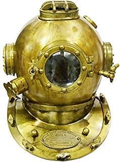 Scuba Diving Divers Helmet U.S Navy Mark V Solid Steel Original Antique 18