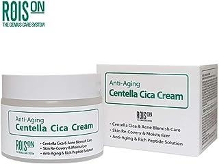 ROIS ON K-Beauty Whitening Moisturizer Plant Stemcell Anti Aging Centella Cica Cream 1.76 fl.oz EWG All 1st Ingredients, B...