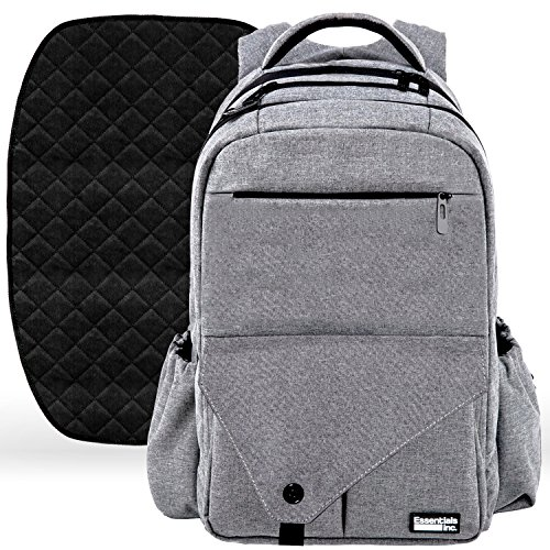 Large Diaper Bag Backpack with Stroller Straps, Baby Changing Mat & 18 Pockets - Insulated Milk Bottle Pockets, Water Resistant Unisex Design for Men & Women