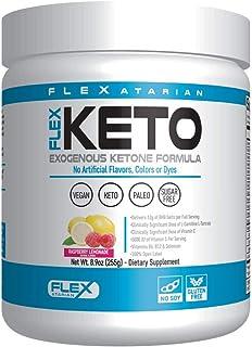 Flexatarian Flex Keto-Exogenous Ketone Powder, Raspberry Lemonade-15 Servings