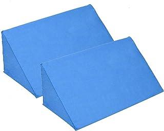 ZYQDRZ Wedge-Shaped Pillow, Body Posture Positioning, Based On Ergonomic Design, Used for Pregnant Women, Elderly, Bedridden Patients,Blue,2PACK