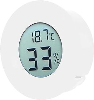 Luftfuktighetsmätare, inbyggd termometerhygrometer LCD-display Mini för displayskåp för kylskåp(white)