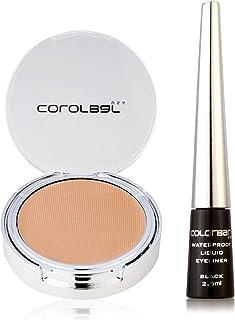 Colorbar Triple Effect Makeup, Beige + Colorbar Waterproof Liquid Eyeliner, Black