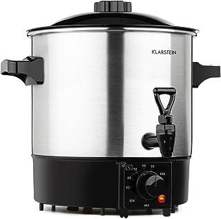 Klarstein Biggie Eco - Stérilisateur automatique et distributeur de boisson, 1000W, 30-100 °C, volume de 9L, robinet, voya...