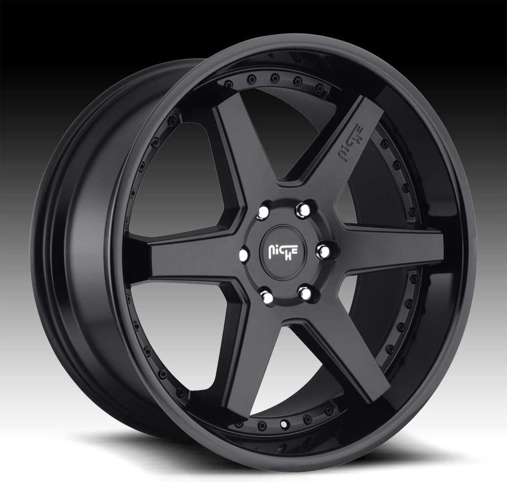 Niche altair Max 65% OFF 22x10 5x127 35et Minneapolis Mall black gloss matte wh 71.50mm
