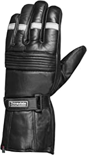 Reflective Motorcycle Biker Premium Winter Sheep Leather Thinsulate Gloves XL