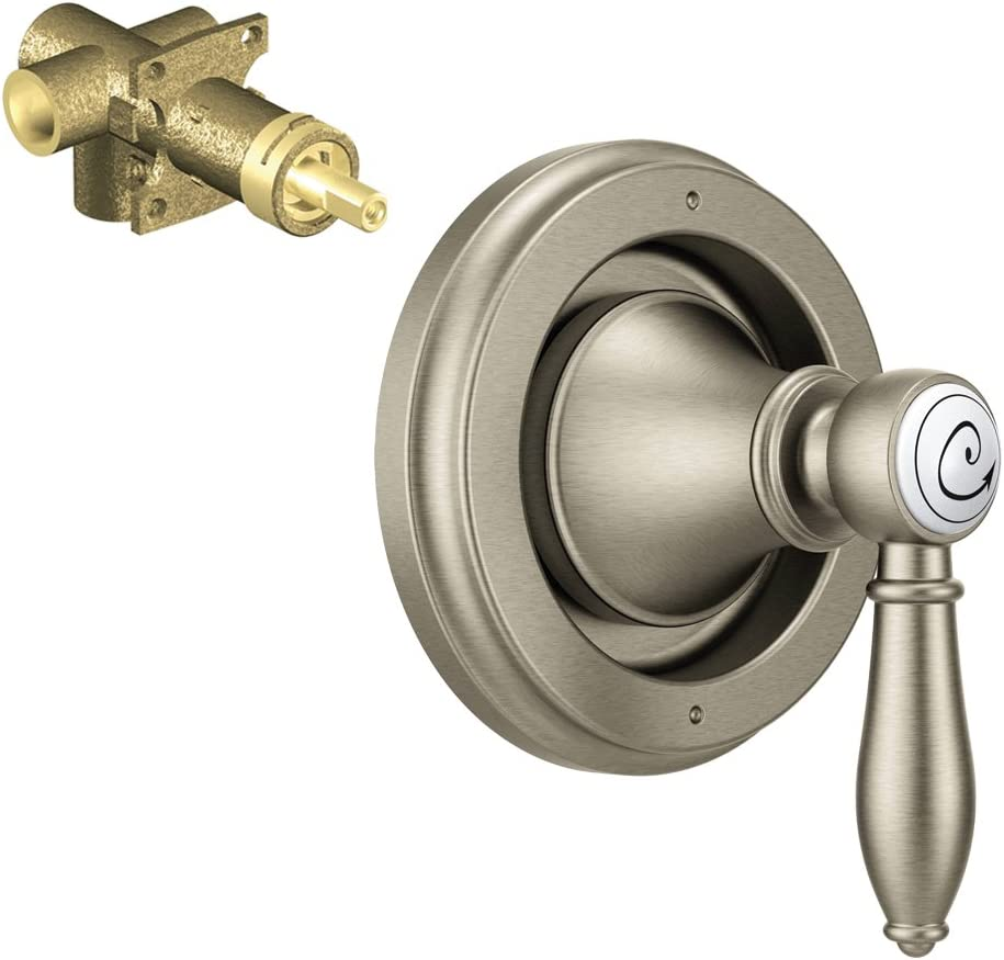 Moen K-TS32205-75BN Weymouth 2-Function Transfer Valve Trim with 1//2-Inch CC Rough-in Brushed Nickel