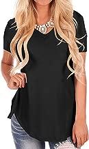 Fantastic Zone Women's Short Sleeve V-Neck Loose Casual Tee T-Shirt Tops