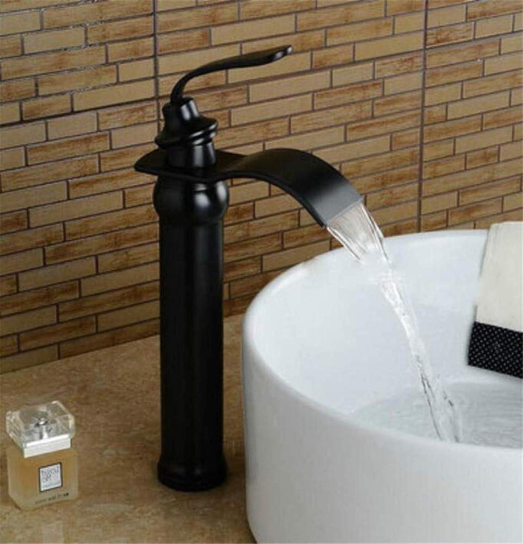 360 ° drehbaren Wasserhahn Retro Wasserhahn Waschbecken Wasserhahn Messing Mischbatterie Hei Kalt Schwarz Wasserhahn