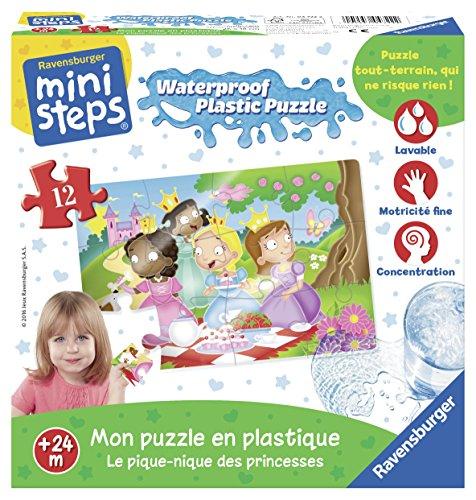 Ravensburger - Ministeps - 04722 - Le Pique-Nique des Princesses - Puzzle Plastique - Premier Age - 12 Pièces