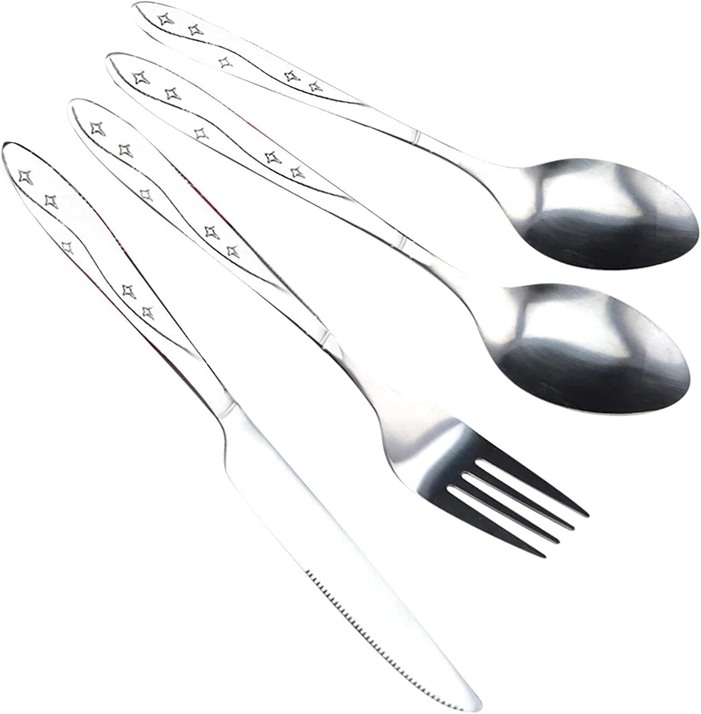 Stainless Time sale Steel Knife Regular discount Fork Spoon Family Cutlery Camping P Travel