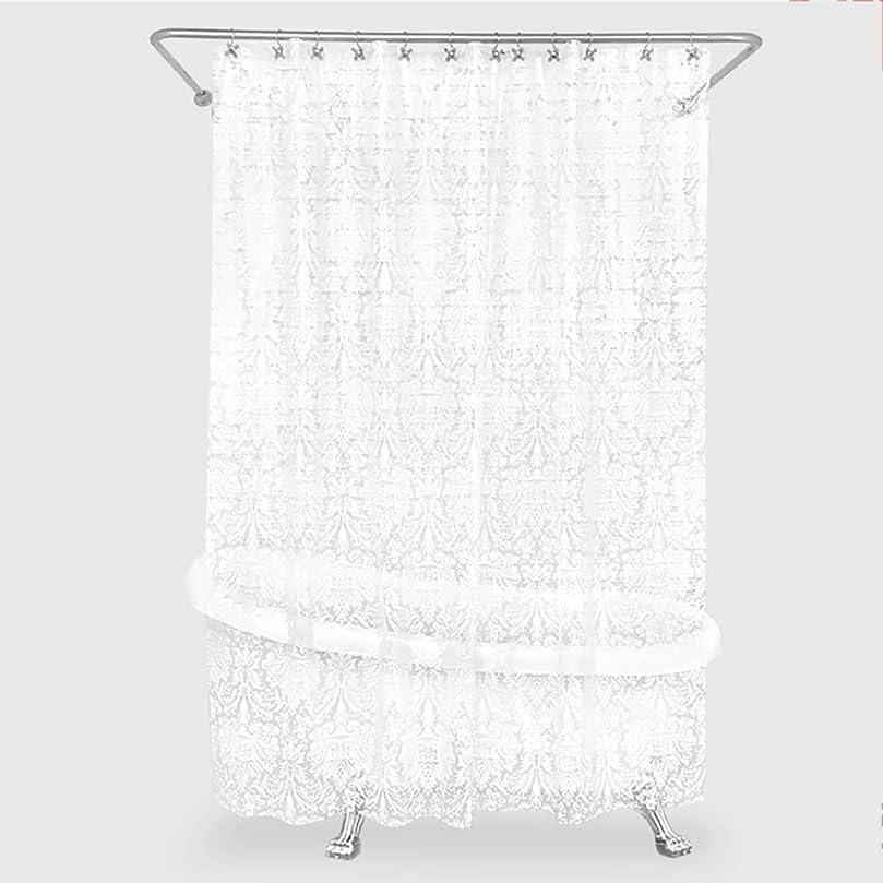 ビタミン成分騒乱透明なシャワーカーテン、フード仕切りカーテンホワイトで防水性のカビ対策環境にやさしい、シャワーカーテンライニング (色 : クリア, サイズ : 180×220cm)