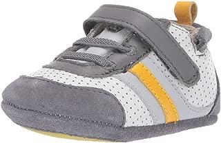 Boys' Low Top Sneaker-Mini Shoez Crib Shoe Grey/Yellow 6-9 Months