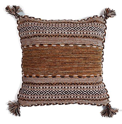サヤンサヤン クッションカバー 手織り インドキリム 45x45 ベージュ エスニック アジアン 綿