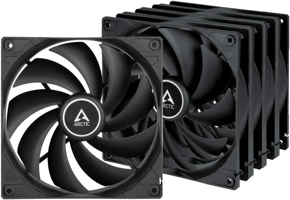 ARCTIC F14 (5 piezas) - 140 mm Ventilador de Caja para CPU, Motor Muy Silencioso, Computadora, 1350 RPM - Negro